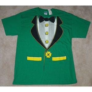 🌷NWT Green Tuxedo T-Shirt St Patricks Day Wedding